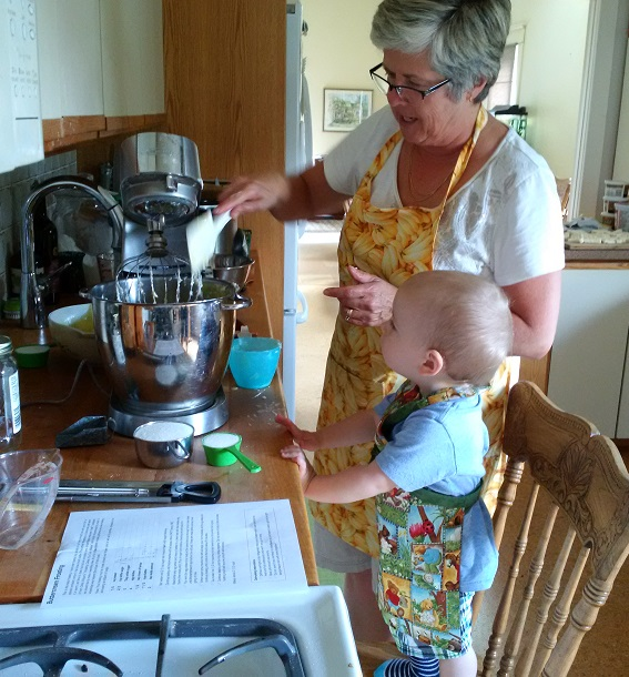 1st Baking with Grandma