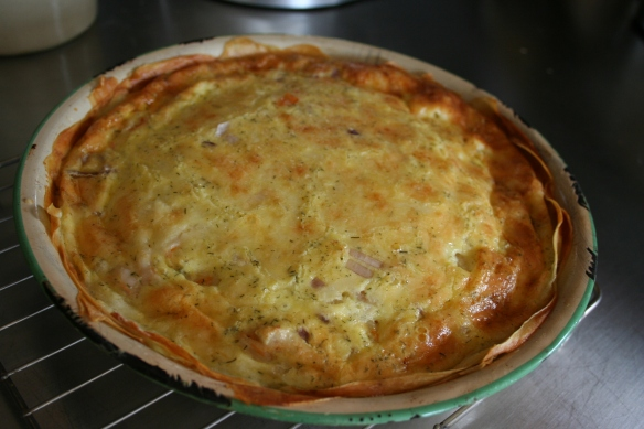 Shrimp Quiche with Potato Crust