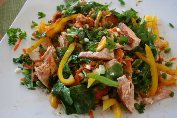 Edamame Salmon Salad